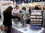 Shoppers admiring the new products from Soft Flex