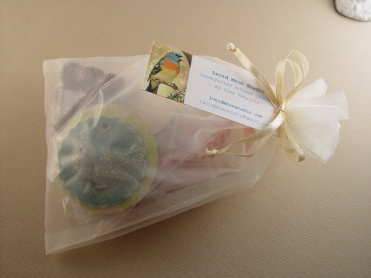 Inside of my package from Lisa Petrillo of Lucid Moon Studio