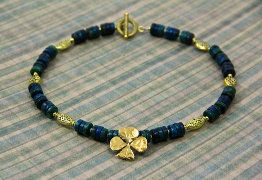 Lucky! A St. Patrick's Day Necklace that can be worn all year long. By Suzann Sladcik Wilson