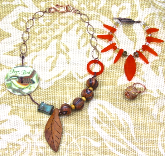 """Free Spirit"" Necklace, Bracelet, and Ring by Suzann Sladcik Wilson"