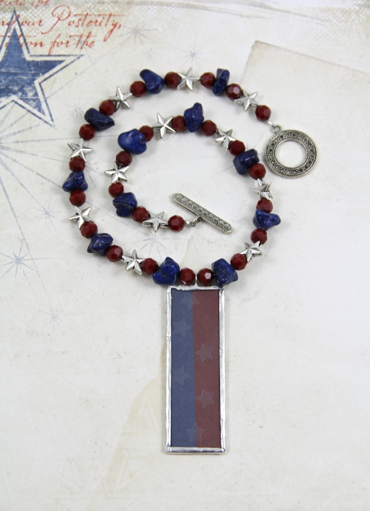 Seeing Stars 4th of July Necklace