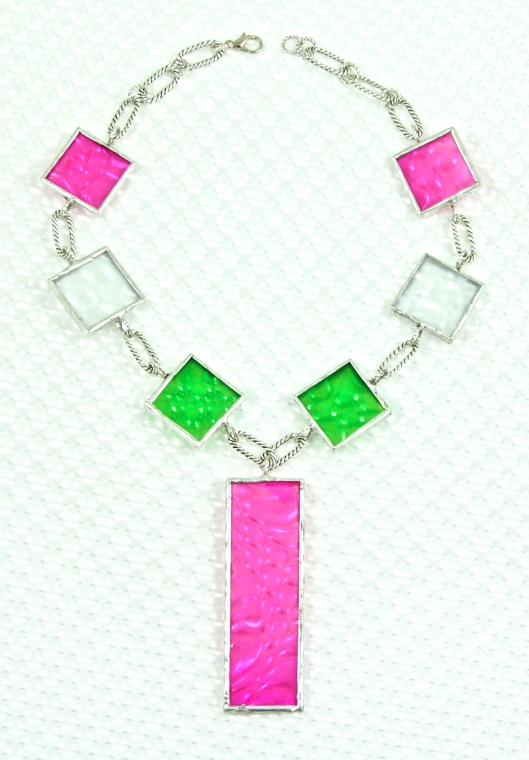Neon Brights Necklace by Suzann Sladcik Wilson