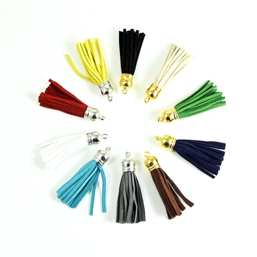 A small sample of the many colors the Dazzle-it tassels come in.