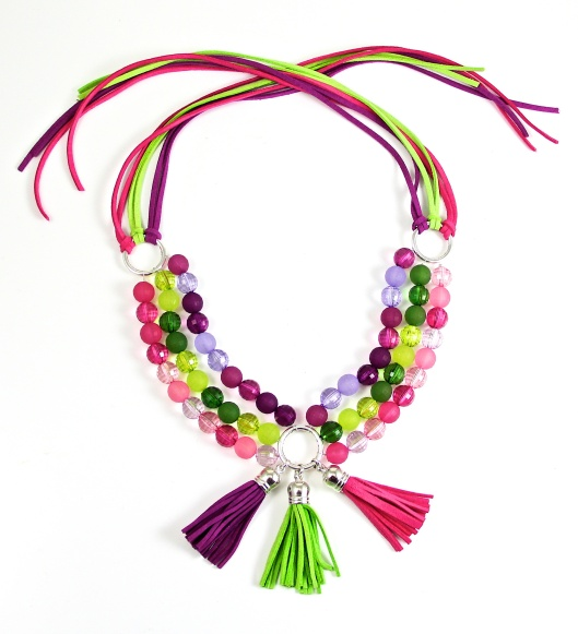Tasseled for Ombre Necklace by Suzann Sladcik Wilson