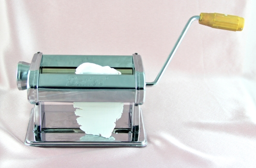 Use a pasta machine dedicated only to polymer clay.