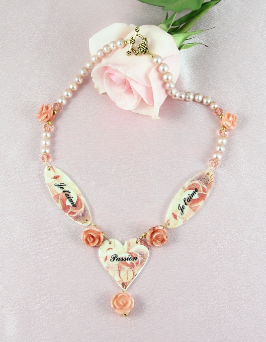 Passion for Love Necklace by Suzann Sladcik Wilson using Jewelry Attitude