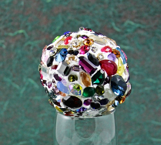 Close Up of Swarovski Crystal Mosaic Onament