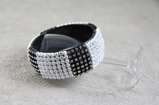 Bracelet covered by Connie Crystal crystal sheet.