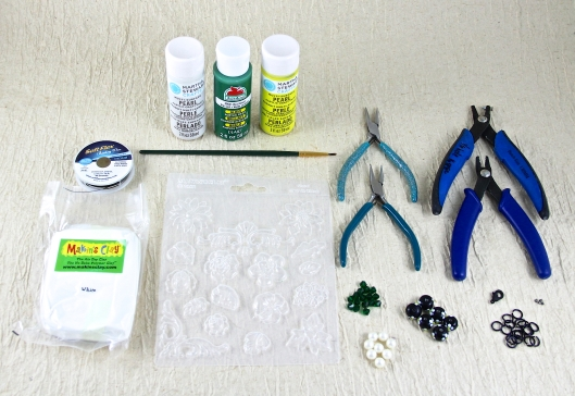 Materials for Daisy Chain Necklace